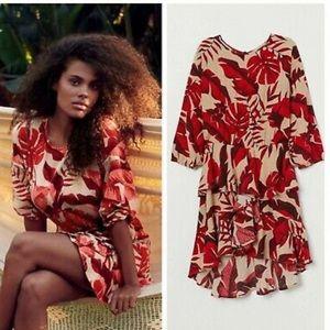 Johanna Ortiz for H&M Light Beige Leaf Print Dress